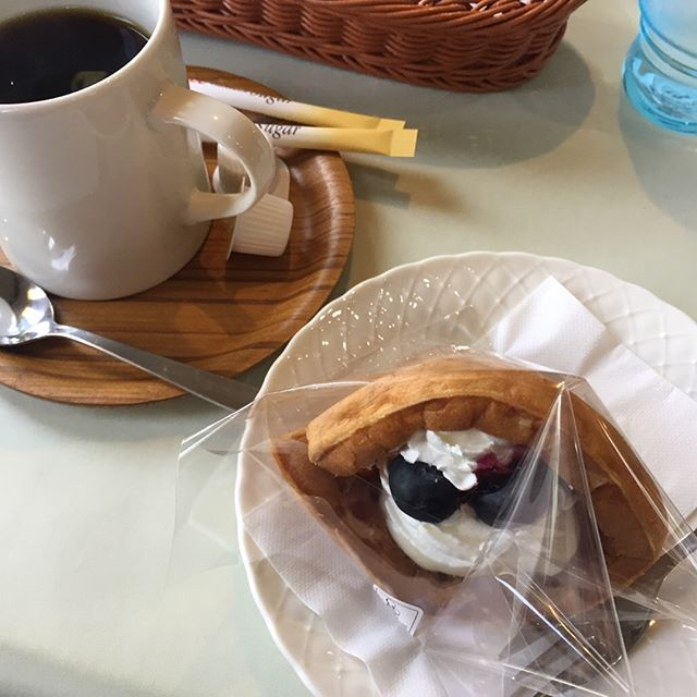 思えば遠くへ来たもんだ(^^)#岐阜#郡上#やまと#ワッフル#美味#けいちゃん